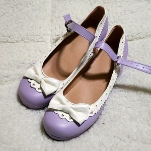 New purple and white Mary Jane shoes shoes size 10